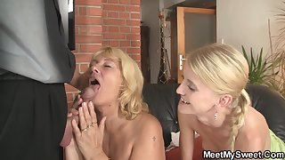 Birthday Leads To 3some With Mature Couple And Teen