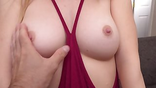 Teen peaches with perky tits loves giving blowjobs