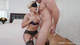jumping on a strong friend's cock is the favorite sport of Christie Stevens,