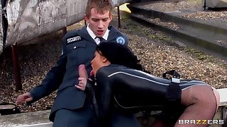 Danny D and Stacey Lacey pounding on a street
