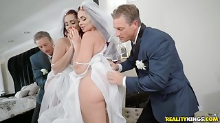 Bride to be Skyla Novea gets a rough fuck before the wedding
