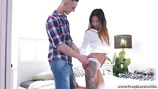Roxy Lips likes when her lover cum on her cunt after hard copulation