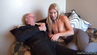 Horny Dad Nailing Hot Blonde Teen