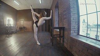 Versatile Russian teen Rita Pervorazova gets naked and teases